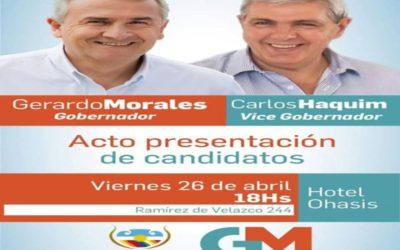 PRESENTACIÓN DE CANDIDATOS DEL FRENTE CAMBIA JUJUY