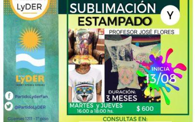 TALLER DE SUBLIMACIÓN Y ESTAMPADO EN LyDER